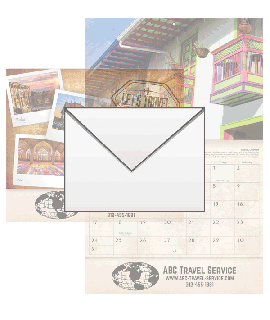 LET'S TRAVEL Wall Calendar Envelopes