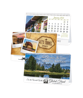 Let's Travel or Scenes Across North America Desktop Calendars