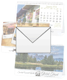 Let's Travel/ Scenes Across N America Desktop Calendar Envelopes