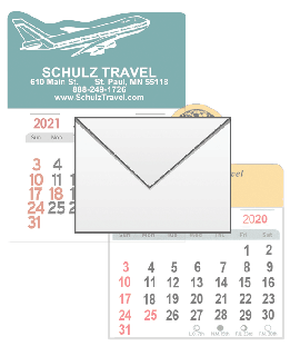 Travel Sticks Calendar Envelopes