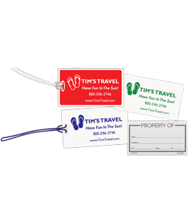 Deluxe Insert Luggage Tags