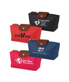 Color Block Cosmetic Bag