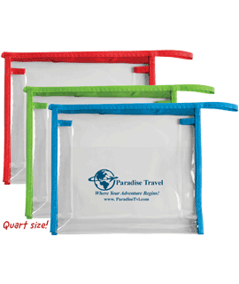 Quart Size Travel Pouches
