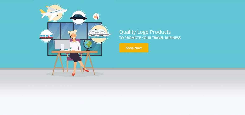 Travel agent at desk